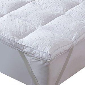 Bedecor Matelas souple, Matelas de Polyester en Microfibre, Antidérapant, Anti-acarien, convient également aux Matelas à Mémoire et lits d'eau – 120×200 cm
