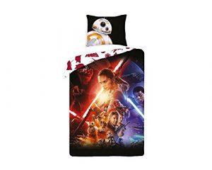 Disney Star Wars Parure de lit 100% Coton – Housse de couette réversible + Taie