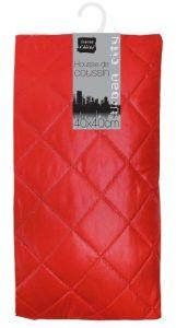 Douceur d'Intérieur Housse de Couette Déco + Zip + Encart + Uni Polyester Rouge 40 x 40 cm