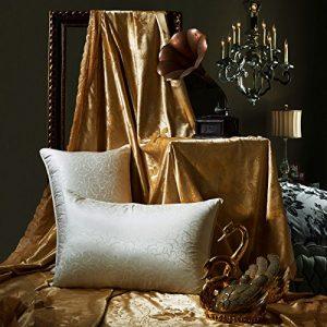 Luxe coussin de soie douce et confortable pour aider le sommeil lent rebond Neck Pillow