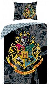 Parure de lit Harry Potter pour enfant certifié Öko-Tex 100 avec housse de couette 140x 200cm