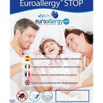 Euroallergy Stop | Housse pour Matelas: imperméable, Respirant, Anti-Allergique et antiacaros | Plusieurs Tailles Disponibles 135 x 190-200 x 20 cm. Blanc