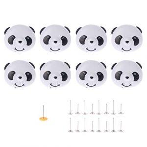 ruiruiNIE 8X Housse de Couette Panda literie Douillette Support pour Sac de Couette Pince Attache fixée