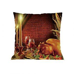 Tleegu Mode Coussin, décoration de Noël Super Doux de Noël de Coussin carré Taie d'oreiller, Coton, C, Taille Unique