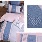 ACOMDSS Literie à Motif, Parure de lit, 4 pièces – Suite Nordique 4 pièces imprimée Coton Dortoir matelassé en Coton,1.6(6in)