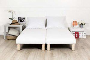 by sommiflex sommier tapissier 2x80x200 (160×200) Fabrication française + Pieds Offert