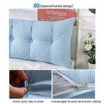 Coussin de nuit Grand lit double dossier Tatami oreiller de lit peut être fixe et lavable for Salon Chambre chevet Canapé (Color : C, Taille : 200cm)