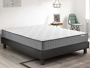 Ensemble mémoire de Forme + sommier 90×190 Ergo Confort Hbedding – 7 Zones de Confort – épaisseur Matelas 22cm