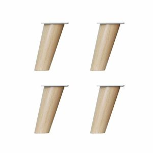 Furniture Feet Pied de Meuble Pied de comptoir Pied Table Basse Pied Pied incliné Pied de Meuble en Bois Massif Pied X4