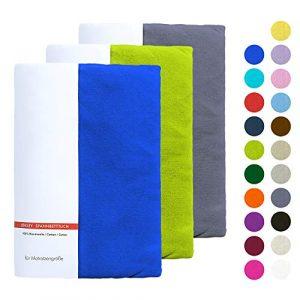 Niceprice Drap-Housse en Jersey dans Un Petit Emballage – Respectueux de l'environnement – Simple et Pack, Drap-Housse, Coton, Lilas, 180 x 200 cm