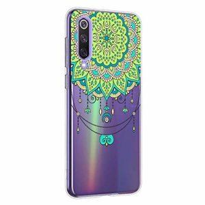 Oihxse Mandala Motif Case Compatible pour Xiaomi Redmi Note 5A Coque Transparente Silicone TPU Souple Protection Etui Ultra Slim Mehndi Floral Datura Dentelle Housse Bumper (A2)
