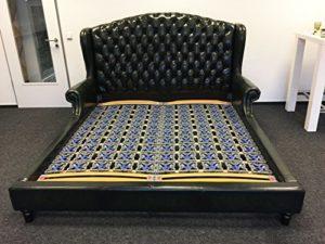 Otter Home.com Luxus King Chesterfield Lit en Cuir de Vachette véritable
