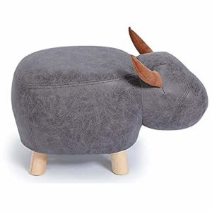 Ottoman Pouf,Tabouret Pouf Tabouret Ménage Bois Stoo Banc De Chaussures Créatif Canapé De Mode pour Gagner De La Place,Grey