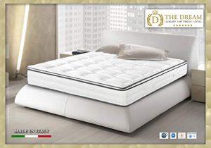 the dream luxury mattress hotel Lit de Jour, Matelas Blanc Sommier Blanc, 2 Personnes (Standard)