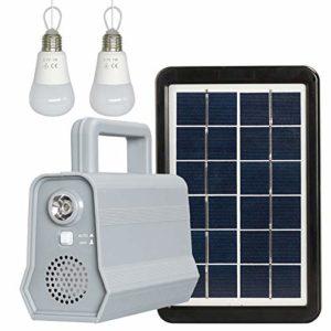 ACHICOO Veilleuse Bluetooth avec Panneau d'alimentation Solaire pour l'éclairage de Camping en Plein air