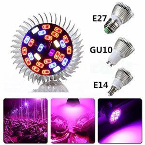 ETbotu Lampe de Croissance des Plantes, 5730SMD Ampoule CA 85-265V de de Croissance de Plantes de LED E14 18W 28LED