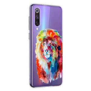 Oihxse Cristal Clear Coque pour Xiaomi Mi CC9PRO/NOTE10PRO/NOTE10 Silicone TPU Souple Protection Etui [Jolie Aquarelle Animal Design] Anti-Choc Anti-Scratch Bumper Housse Ultra Fin Case (B8)