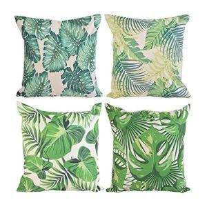 Reinefleur Lot de 4pcs Taie d'oreiller Decorative Canapé Maison Voiture Housses de Coussin Forêt Tropicale (Forêt Originale)