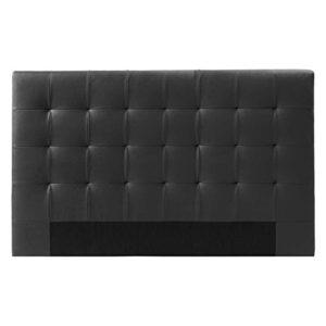 Designetsamaison Tête de lit capitonnée Noir 160 cm – Confort