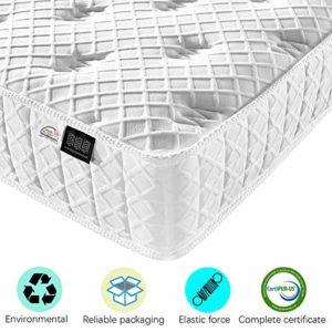 Fy-Light Matelas Ressort Ensachés Matelas Multicouches confort avec individuel Ressorts ensachés & Tissu respirant – 7 Zones de Confort – 25cm Épaisseur(120×200)