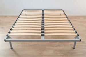Générique Sommier Iron Kit 140×190 cm – Sommier à Lattes en kit – Cadre en Fer