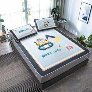 LinZX Dessin animé été pour Enfants taie Matelas de Dinosaures,No.2,1.8 m Bed