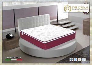 the dream luxury mattress hotel Lit de Jour, Mateals Blanc et Rouge Sommier Blanc, 2 Personnes (Standard)