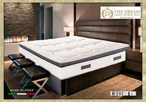 the dream luxury mattress hotel Lit de Jour, Matelas Blanc et Gris-Sommier Blanc, 2 Personnes (Standard)