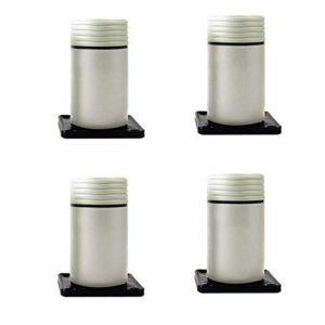 ACZZ Pieds de meuble, plastique, pieds d'armoire de télévision 8-12 cm (ensemble de 4),Elegant White,12cm