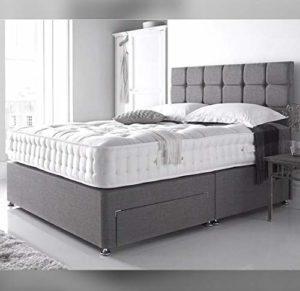 Bedsdivans Ensemble de lit avec Matelas et tête de lit cubique