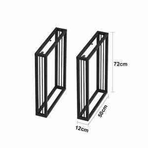 CIKO Pieds de Table Robustes 2X – Construction en Acier à Double Soudure supérieure avec vis Libres