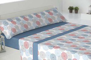El Barco Parure de lit en Coton, 50% Polyester 135X190 Bleu