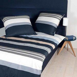 Janine J.D. Parure de lit en satin de coton mako 200 x 200 cm + 80 x 80 cm – Sable taupe argenté.