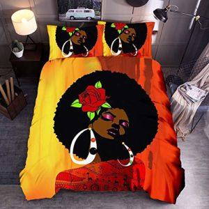 SSLLC Parure de lit Adulte,3D Style Culture Africain Housse De Couette Polyester Literie Simple,Enfants Garçons Filles Ados Hommes Chambre Décoration Cadeaux (A04,Double 200X200CM)