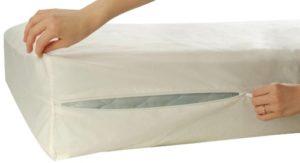 Allersoft Housse de Protection 100% Coton pour Matelas 160 x 200 x 20 cm