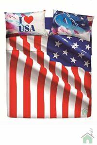 Bassetti Parure de lit Double Home Innovation USA Flag