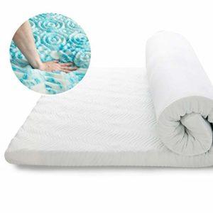 Bedsure Surmatelas Memoire de Forme 90×190 cm, Surmatelas Ergonomique de 7cm à 7 Zones Respirant et Moelleux avec Housse Amovible et Lavable