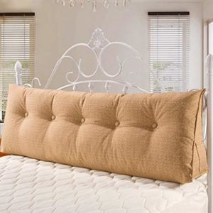 Canapé Coussin arrière Grand lit Retour Canapé Coussin Bed Head Coussin Long lit Oreiller Coussin Sac Souple sans Lit Double Lavable (Couleur: Beige, Taille: 60 * 50 * 20cm), Taille: 180 * 50 * 20cm,