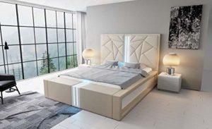 Canapé Dreams Imperia Lit à sommier tapissier avec éclairage LED