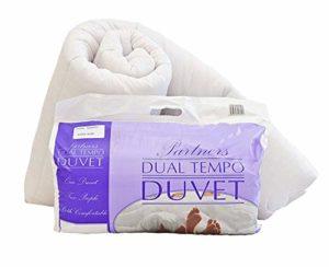 Couette de luxe «chaud et froid» (14 et 7 tog) pour elle et lui en polycoton, Polycoton, violet, Double 200 x 200cm