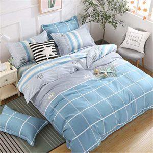 Couette linge de lit en coton d'impression numérique literie une famille de quatre super lavable doux et confortable,A-200×230 cm