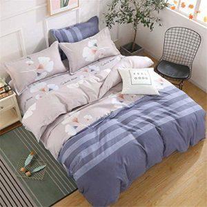 Couette linge de lit en coton d'impression numérique literie une famille de quatre super lavable doux et confortable,B-200×230 cm