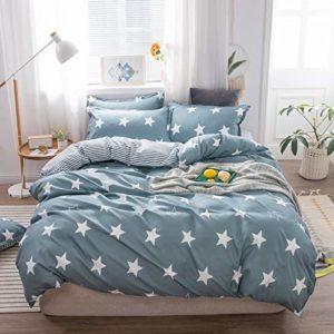 Couette linge de lit en coton d'impression numérique literie une famille de quatre super lavable doux et confortable,C-200×230 cm