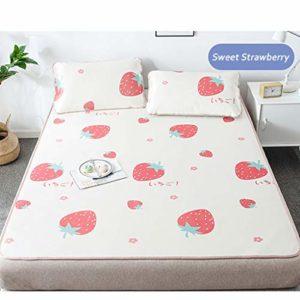 CPPI-1 Tapis de couchage pour bébé d'été frais et respirant en soie glacée pour lit bébé, 2.0m (6.6 feet) bed
