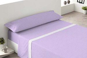 Cygne Rouge Avril-Set de draps Polaires pour lit de 90cm Mauve