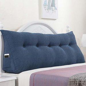 JN Tête de lit Grand Retour Coussins Coussin tête de lit de Chevet Tapis Triangular Tissu Art Soft Case Wedge Pillow Lombaire, Multifonction Coussin appuie-tête (Color : E, Size : 200 × 22 × 50cm)