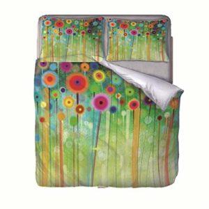 LIGAHUI Parure de lit pour 2 Personnes Couleur 240x220cm Housse de Couette Ensemble de 3 pièces literie(Housse de Couette + 2 taies d'oreiller)