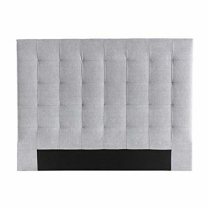 Miliboo Tête de lit capitonnée en Tissu Gris 140 cm HALCION