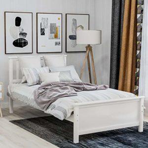 Mupple Lit superposé double avec lit gigogne en bois massif Gris