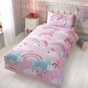 Rapport Little Unicorn Size: 1 x Toddler Duvet Cover 120 x 150cm and 1 x Pillowcase 40 x 60cm Rose